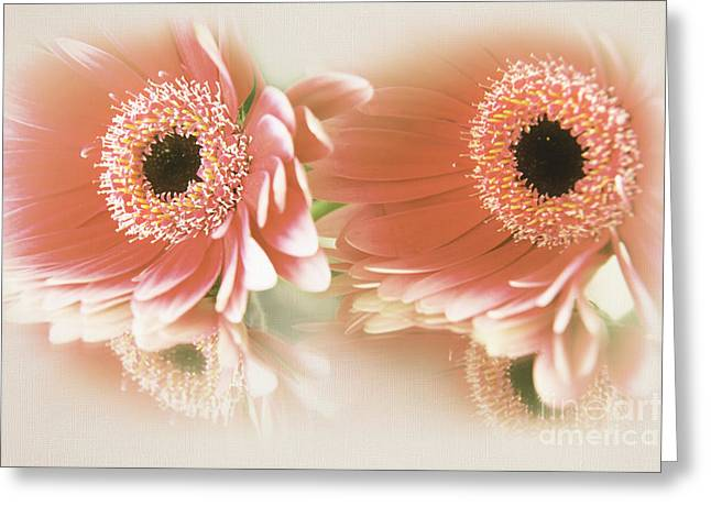 Best Flower Images Greeting Cards - Textured Floral Artwork Greeting Card by Eden Baed
