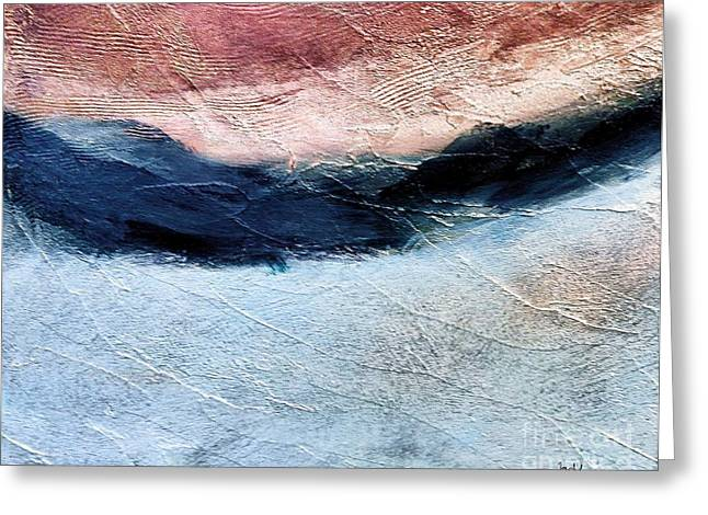 Sienna Greeting Cards - Textured Landscape Abstract Greeting Card by Marsha Heiken