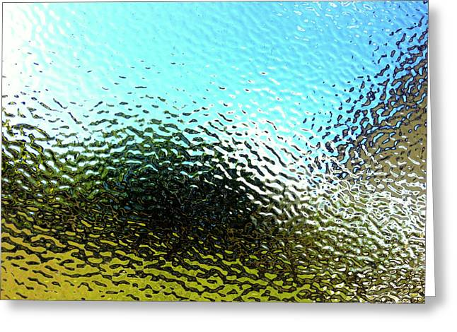 Frosted Glass Greeting Cards - Textured surface Greeting Card by Les Cunliffe