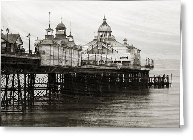 Seaside Digital Art Greeting Cards - Textured Wall Art Eastbourne Pier Greeting Card by Natalie Kinnear