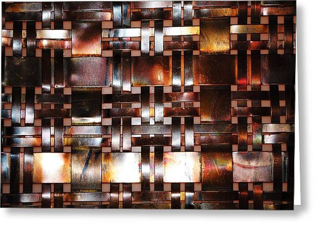 Interlaced Greeting Cards - Textured Wall Greeting Card by Mountain Dreams