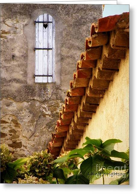 Lainie Wrightson Greeting Cards - Textures in a Provence Village Greeting Card by Lainie Wrightson