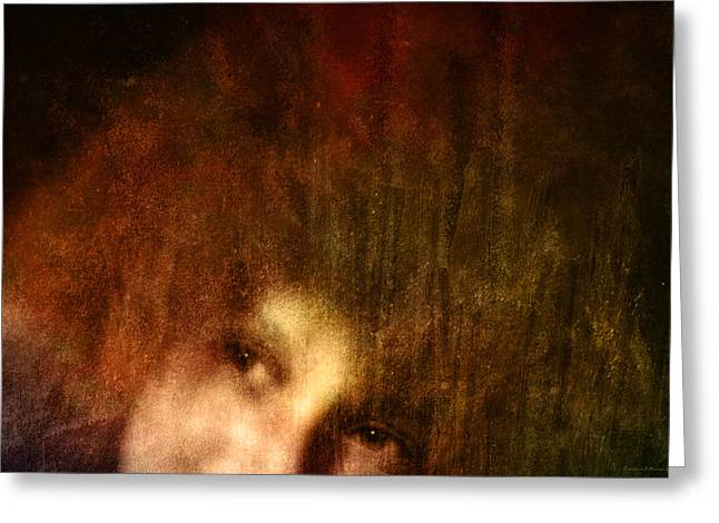 Rembrandt Lighting Greeting Cards - Textures in Renaissance Greeting Card by Barbara D Richards
