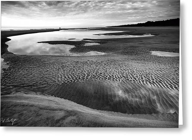 Ocean Vista Digital Art Greeting Cards - Textures of Low Tide Greeting Card by Phill  Doherty