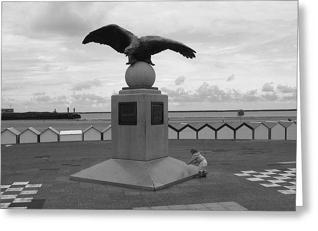 Sea Platform Greeting Cards - Tha Eagle And The Child Greeting Card by Aidan Moran
