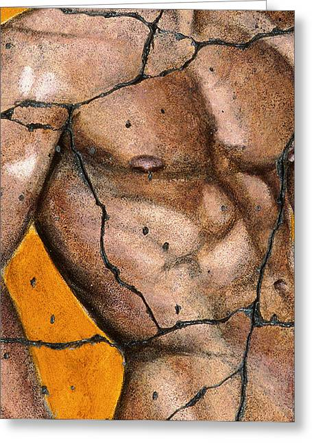 Male Greeting Cards - Thaddeus - Study No. 2 Greeting Card by Steve Bogdanoff
