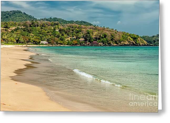 Beach House Digital Greeting Cards - Thai Beach Greeting Card by Adrian Evans