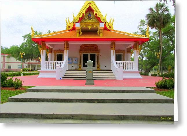 The Followers Photographs Greeting Cards - Thai Buddhist Temple I Greeting Card by Buzz  Coe