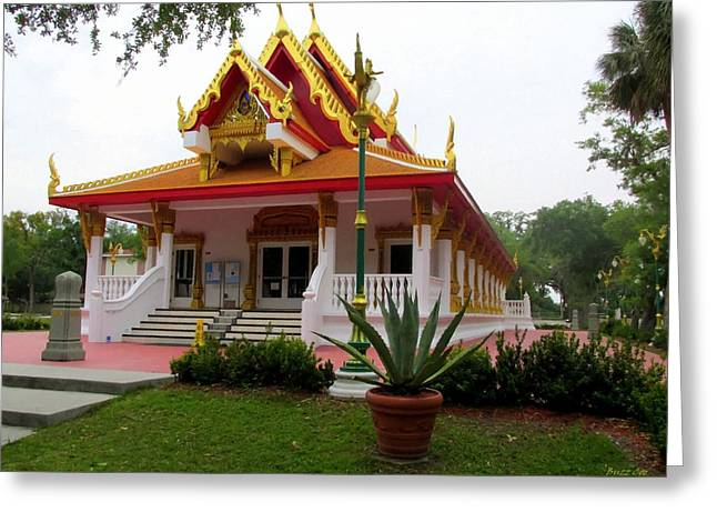 The Followers Photographs Greeting Cards - Thai Buddhist Temple III Greeting Card by Buzz  Coe