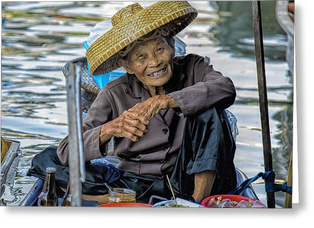 Asian Culture Greeting Cards - Thai Floating Market No 1 Greeting Card by Paul W Sharpe Aka Wizard of Wonders