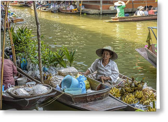 Asian Culture Greeting Cards - Thai Floating Market No 5 - More Bananas Greeting Card by Paul W Sharpe Aka Wizard of Wonders