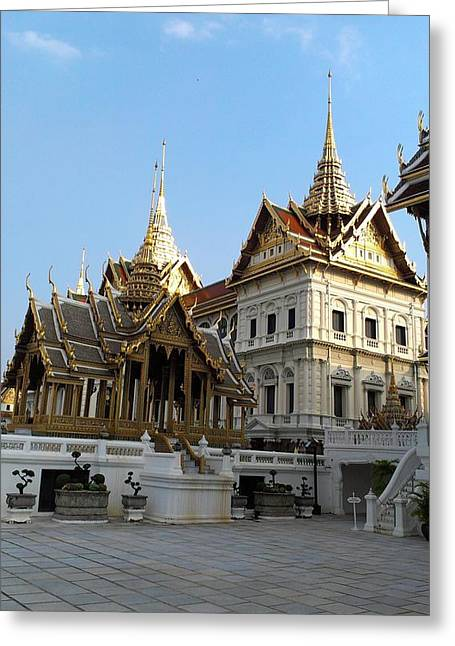 Ancient Greeting Cards - Thai King Grand Palace Greeting Card by Sumit Mehndiratta