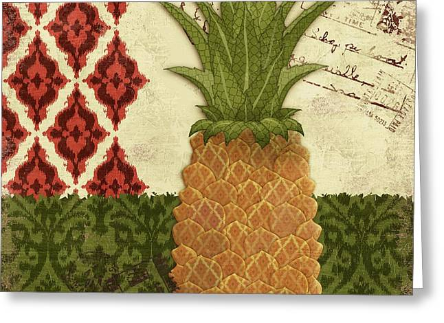 Thai Greeting Cards - Thai Pineapple I Greeting Card by Paul Brent