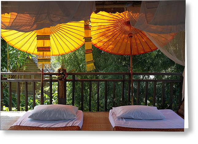 Thailand, Baan Pai, Village Hotel � Greeting Card by Tips Images