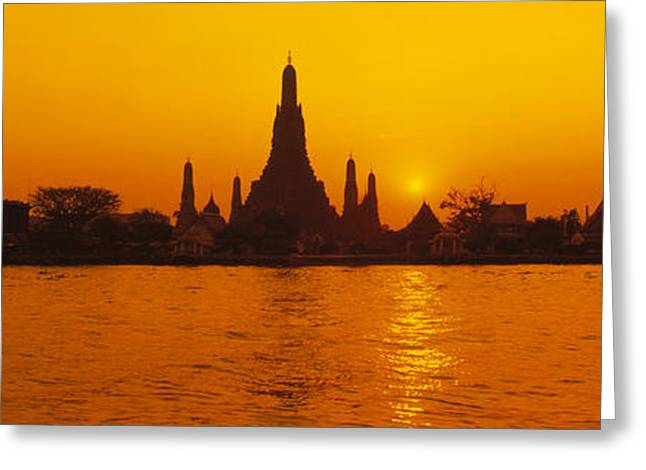 Southeast Asia Greeting Cards - Thailand, Bangkok, Wat Arun Greeting Card by Panoramic Images