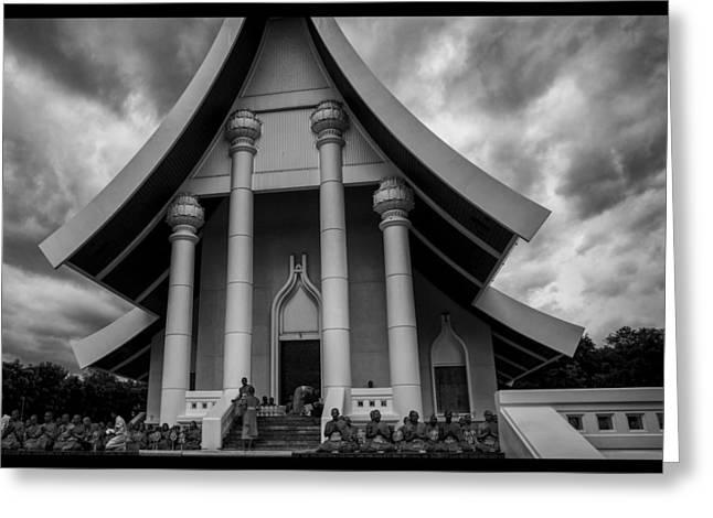 Conservative Greeting Cards - Thailand Buddhist Prayers 5 Greeting Card by David Longstreath