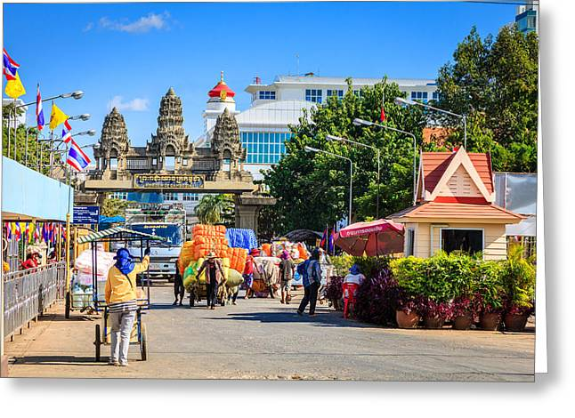 Traffic Control Greeting Cards - Thailand-Cambodia border Greeting Card by Alexey Stiop