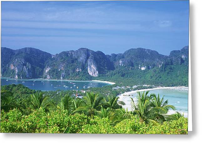 Phi Greeting Cards - Thailand, Phi Phi Islands, Mountain Greeting Card by Panoramic Images