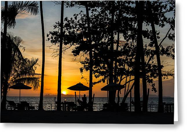 Mike Lee Greeting Cards - Thailand Sunset Greeting Card by Mike Lee