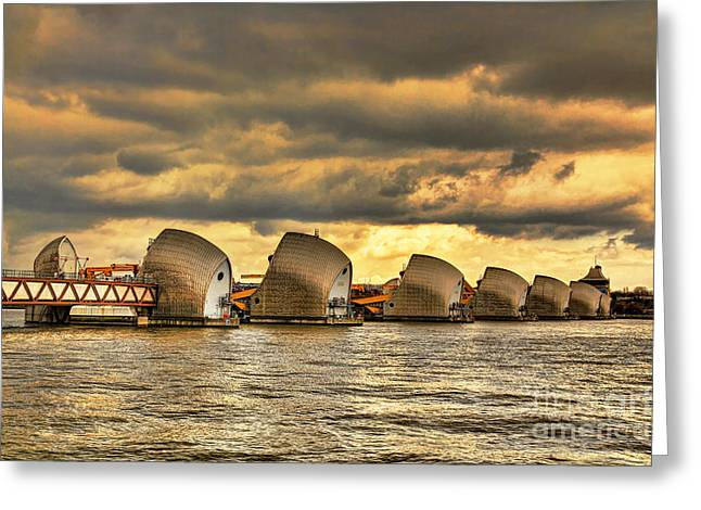 Barriers Greeting Cards - Thames Barrier Greeting Card by Jasna Buncic