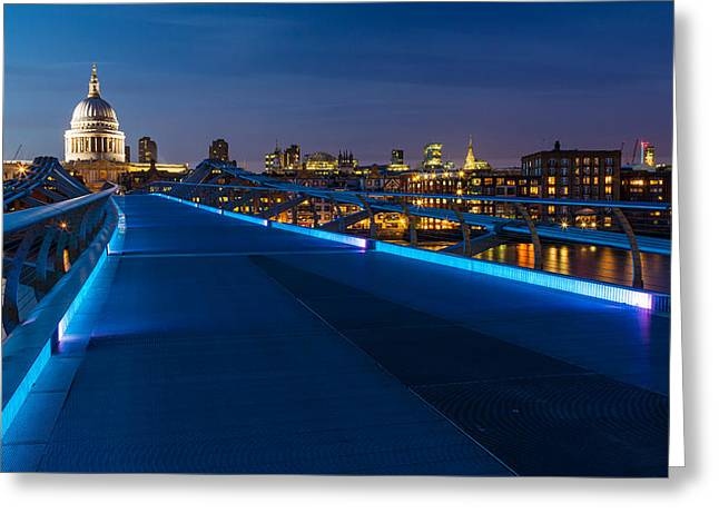 New Britain Greeting Cards - Thames Riverside Blues Greeting Card by Adam Pender