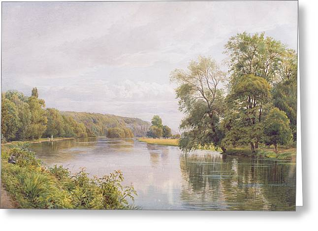 River Paintings Greeting Cards - Thames Greeting Card by William Bradley
