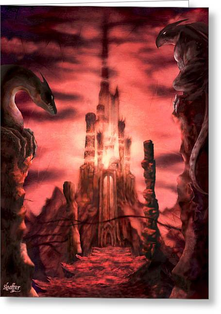 Lord Of The Rings Greeting Cards - Thangorodrim Greeting Card by Curtiss Shaffer