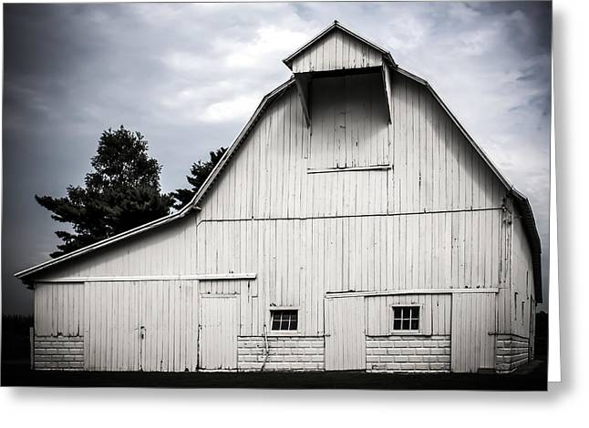 Rural Indiana Digital Art Greeting Cards - Thank God Im a Country Barn Greeting Card by Let Your Dim Light Shine