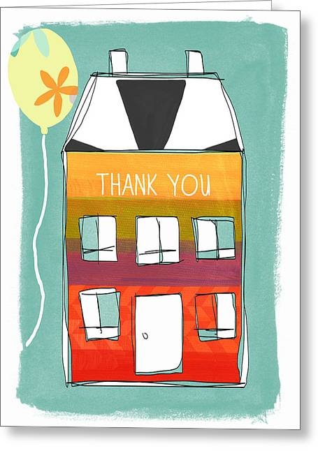 Cards Mixed Media Greeting Cards - Thank You Card Greeting Card by Linda Woods