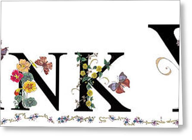 Stanza Widen Greeting Cards - Thank You Greeting Card by Stanza Widen