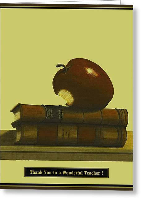 Fineartamerica Greeting Cards - Thank You to a Wonderful Teacher  #  4 2 Greeting Card by Diane Strain