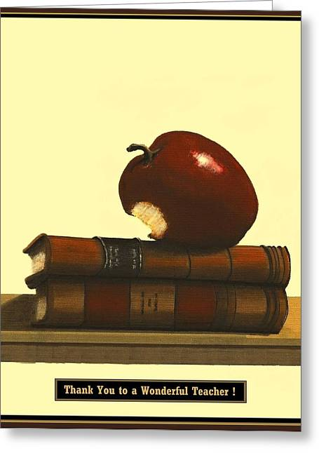 Fineartamerica Greeting Cards - Thank You to a Wonderful Teacher  #  4 3 Greeting Card by Diane Strain