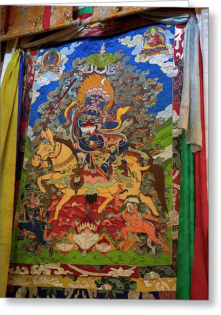 Thanka In Second Floor Temple Greeting Card by Panoramic Images