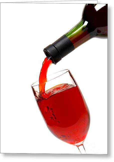 Red Wine Greeting Cards - Thanks Greeting Card by Olivier Le Queinec