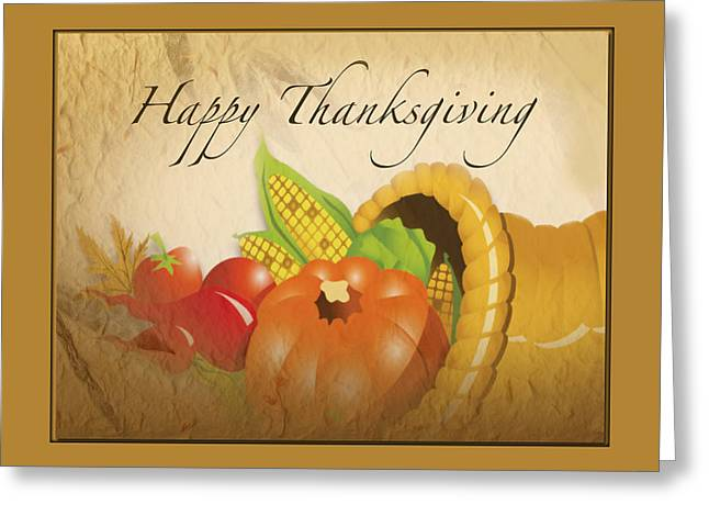Sharing Mixed Media Greeting Cards - Thanksgiving Card Greeting Card by Debra     Vatalaro