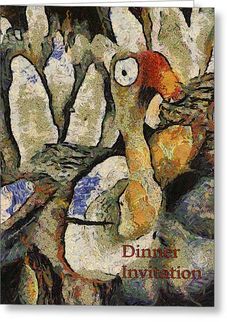 Dinner Party Invitation Greeting Cards - Thanksgiving Dinner Invitation PA Greeting Card by Thomas Woolworth