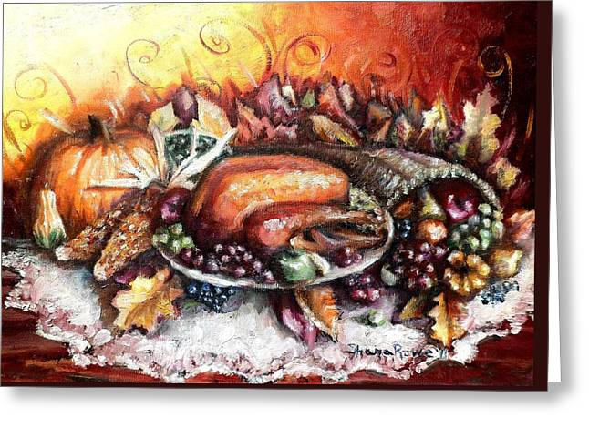 Thanksgiving Dinner Greeting Card by Shana Rowe