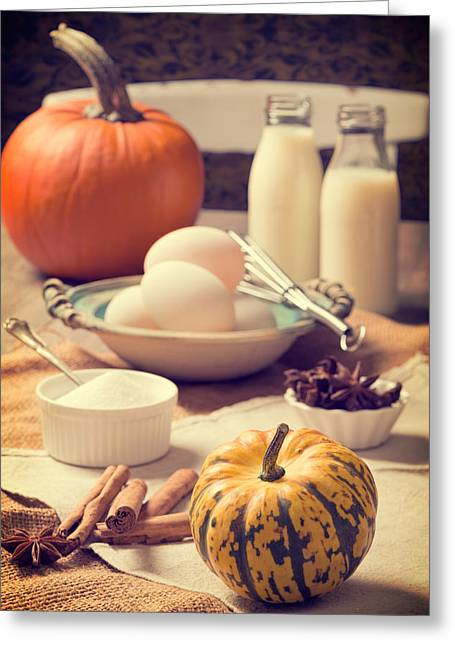 Thanksgiving Greeting Cards - Thanksgiving Kitchen Greeting Card by Amanda And Christopher Elwell