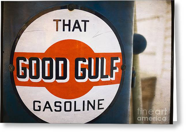 Advertisment Greeting Cards - That Good Gulf Gasoline Greeting Card by Edward Fielding