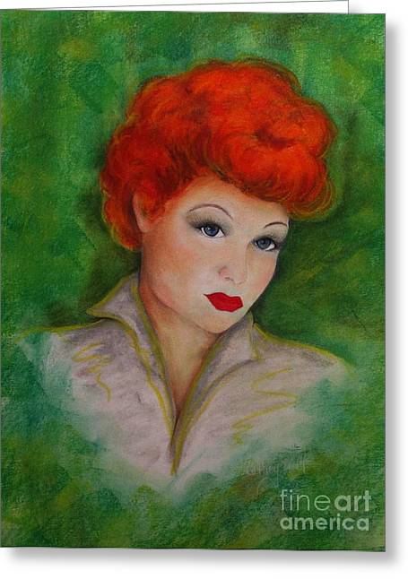 Show Pastels Greeting Cards - That Hair Greeting Card by Catherine Howley