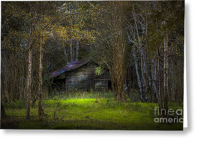 Moss Green Greeting Cards - That Old Barn Greeting Card by Marvin Spates