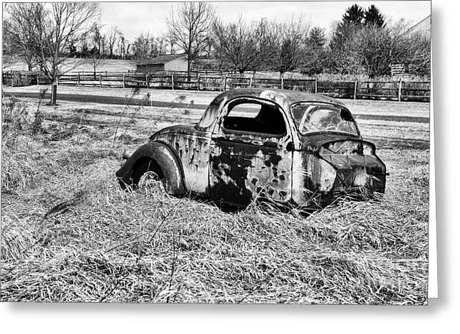 Recently Sold -  - Rusted Cars Greeting Cards - That Old Car Greeting Card by Paul Ward