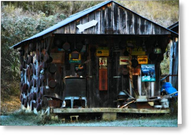 Old Cabins Greeting Cards - That Old Shack Greeting Card by Dan Sproul