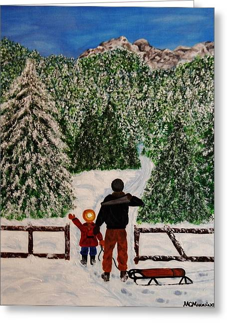 Mountains With Snow Greeting Cards - That One Greeting Card by Celeste Manning