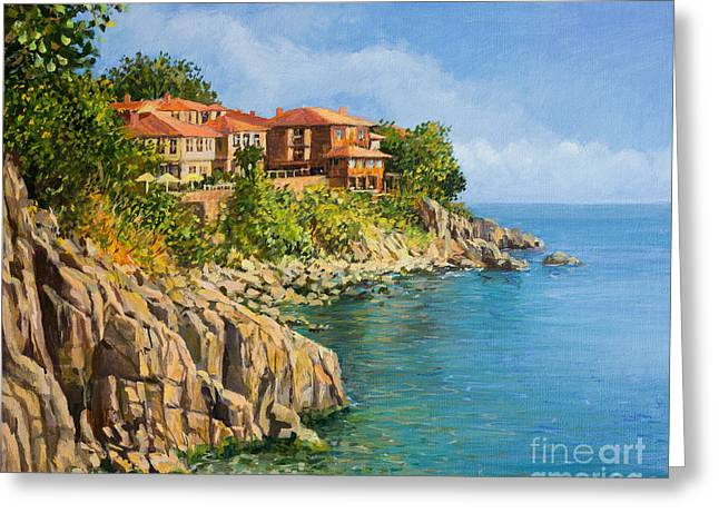 Panoramic Ocean Paintings Greeting Cards - That Summer Greeting Card by Kiril Stanchev