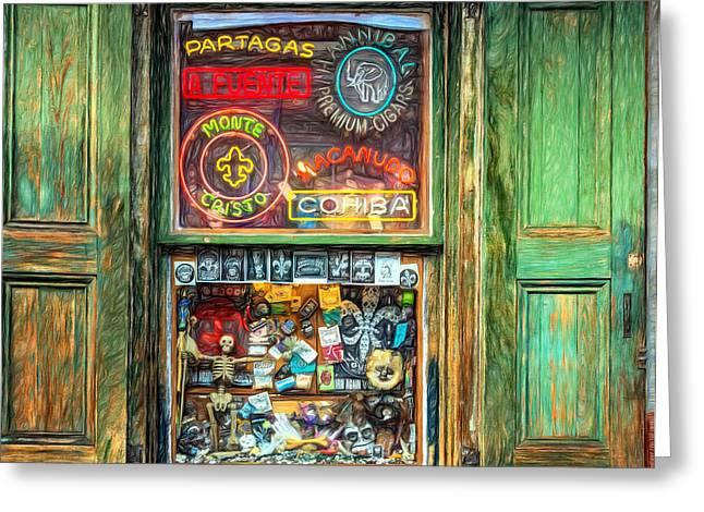 Voodoo Shop Greeting Cards - That Voodoo Thing 2 - Paint Greeting Card by Steve Harrington