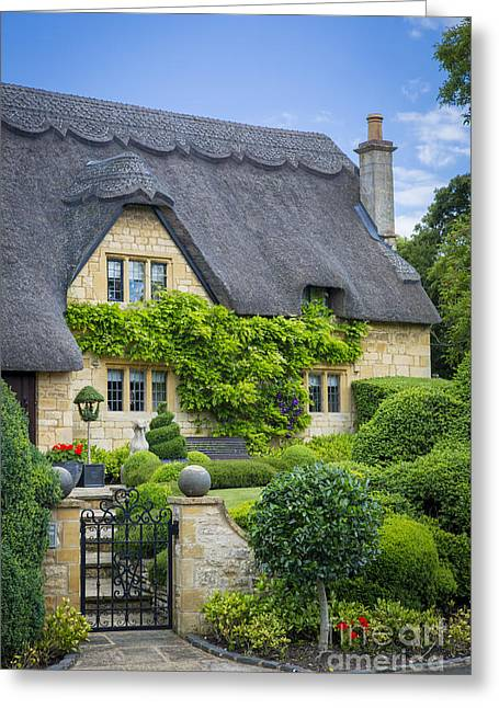 Thatch Greeting Cards - Thatch Roof Cottage Greeting Card by Brian Jannsen