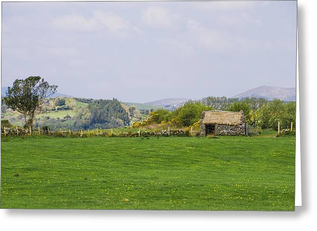 Thatch Digital Greeting Cards - Thatched Cottage in County Mayo Greeting Card by Bill Cannon