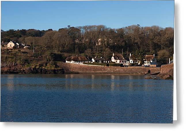 Thatch Greeting Cards - Thatched Cottages In A Town, Dunmore Greeting Card by Panoramic Images