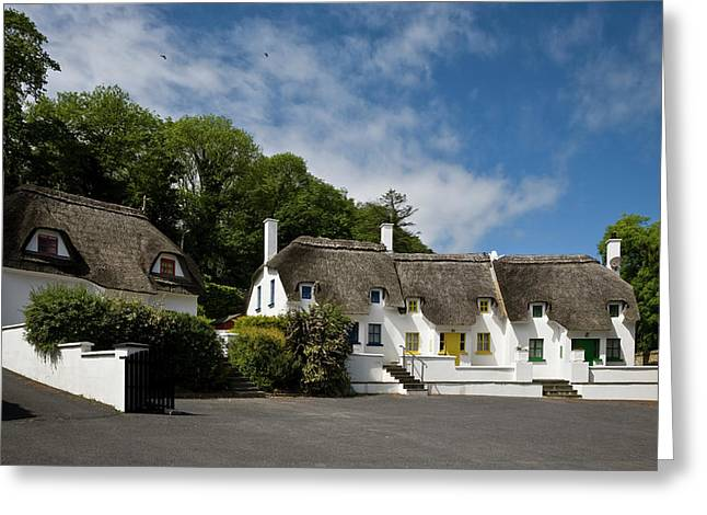 Thatched Cottages Near Dunmore Greeting Card by Panoramic Images